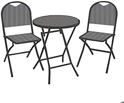 Vacchetti Lucca Table, Fer, Anthracite Anthracite, Grande Taille, 3 unités