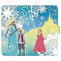 Disney Mobile DM-01K ケース [デザイン:雪の女王/マグネットハンドあり] 童話 手帳型 スマホケース カバー ディズニーモバイル dm01k