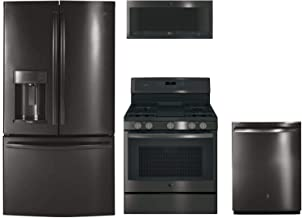 GE Profile 4-Piece Kitchen Package with PFD28KBLTS 36