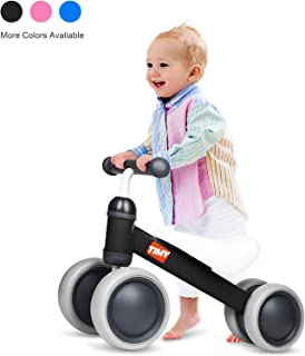 Timy Baby Balance Bike for 1 Year Old Kids Riding Toys for 10-24 Months Toddler No Pedal 4 Wheels Boy Girl First Birthday Gift