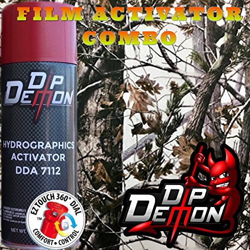Hydrographic Film Combo Kit Woods in Winter White Snow Camo Hydrographic Water Transfer Film Activator Combo Kit Hydro Dipping Dip Demon