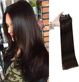 Full Shine Clip In Hair 18 Inch 9Pcs 100 Gram 100 Human Hair Clip in Extensions Full Head Human Hair Clip Extensions Brazilian Clip on Weave Color 2 Darkest Brown Color Clip Extensions for Thin Hair