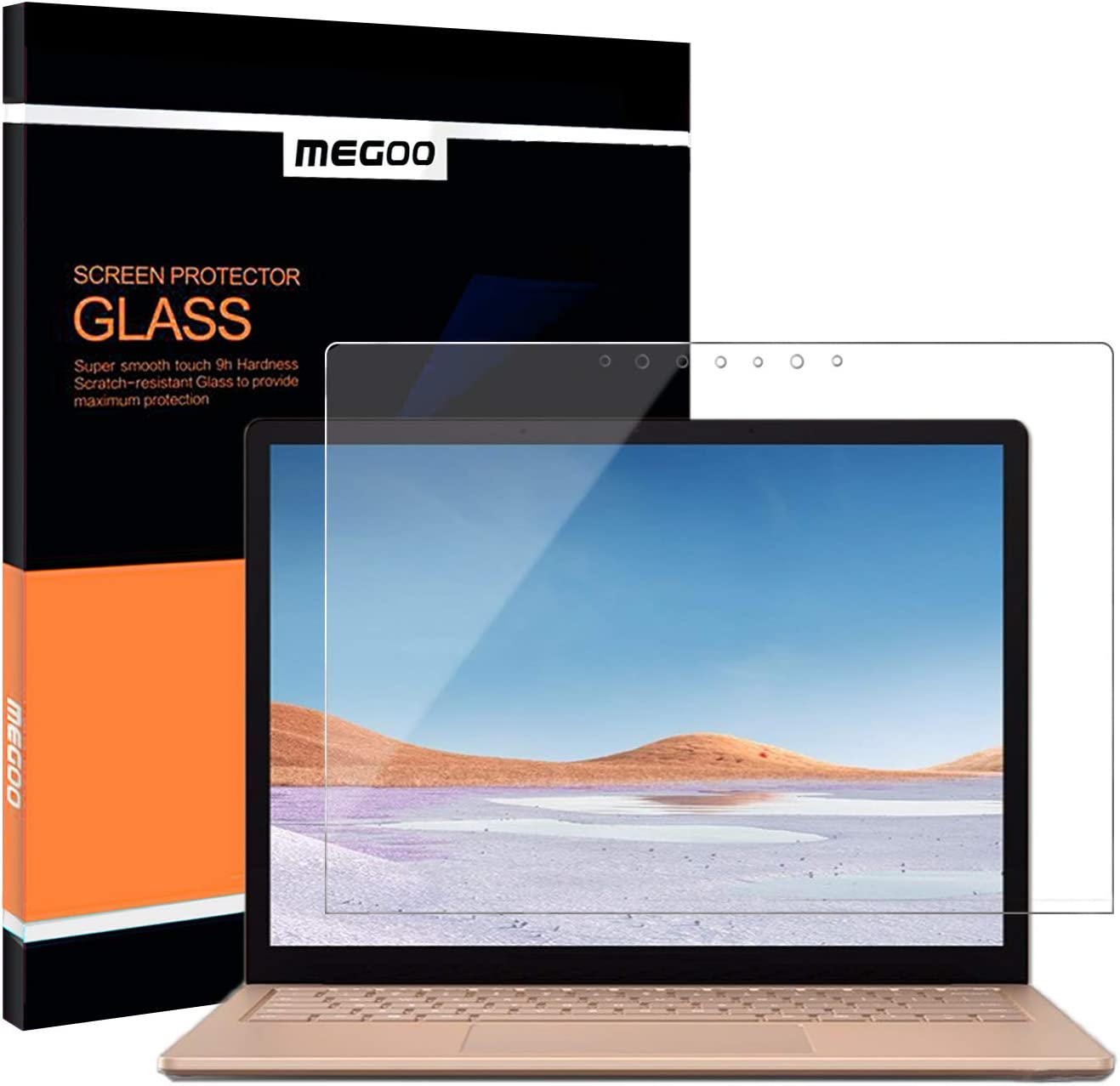 Megoo Tempered Glass Screen Protector for Microsoft Surface Laptop 4 (15 inch),Easy Installation, Scratch Resistant, Ultra Clear Screen Protector for Surface Laptop 4/3 15 inch