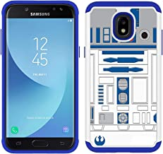 Galaxy J3 V 3rd/Express Prime 3/Achieve/J3 Star/Amp Prime 3 - R2D2 Astromech Droid Robot Pattern Shockproof Hard PC and Inner Silicone Hybrid Dual Layer Armor Defender Case for Samsung Galaxy J3 2018