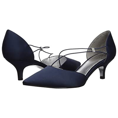 Adrianna Papell Lacy (Navy Classic Satin) Women