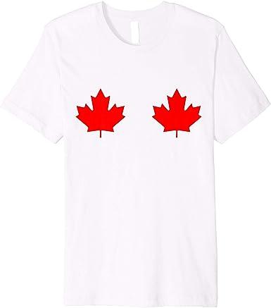 Cybertela Mens Canadian Flag Canada Maple Leaf T-Shirt
