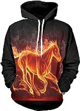 OVERDOES Men 3D Printing Hoodies Autumn Winter Long Sleeve Drawstring Pullover Sweatshirt