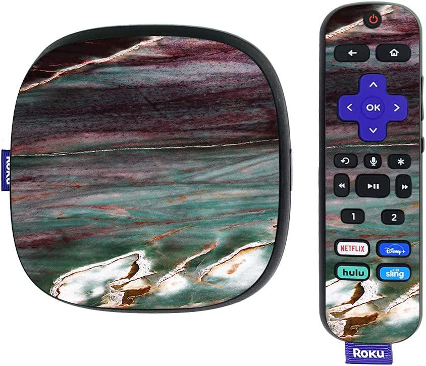 MightySkins Skin Compatible with Roku Ultra HDR 4K Streaming Media Player (2020) - Grunge Marble | Protective, Durable, and Unique Vinyl Decal wrap Cover | Easy to Apply | Made in The USA