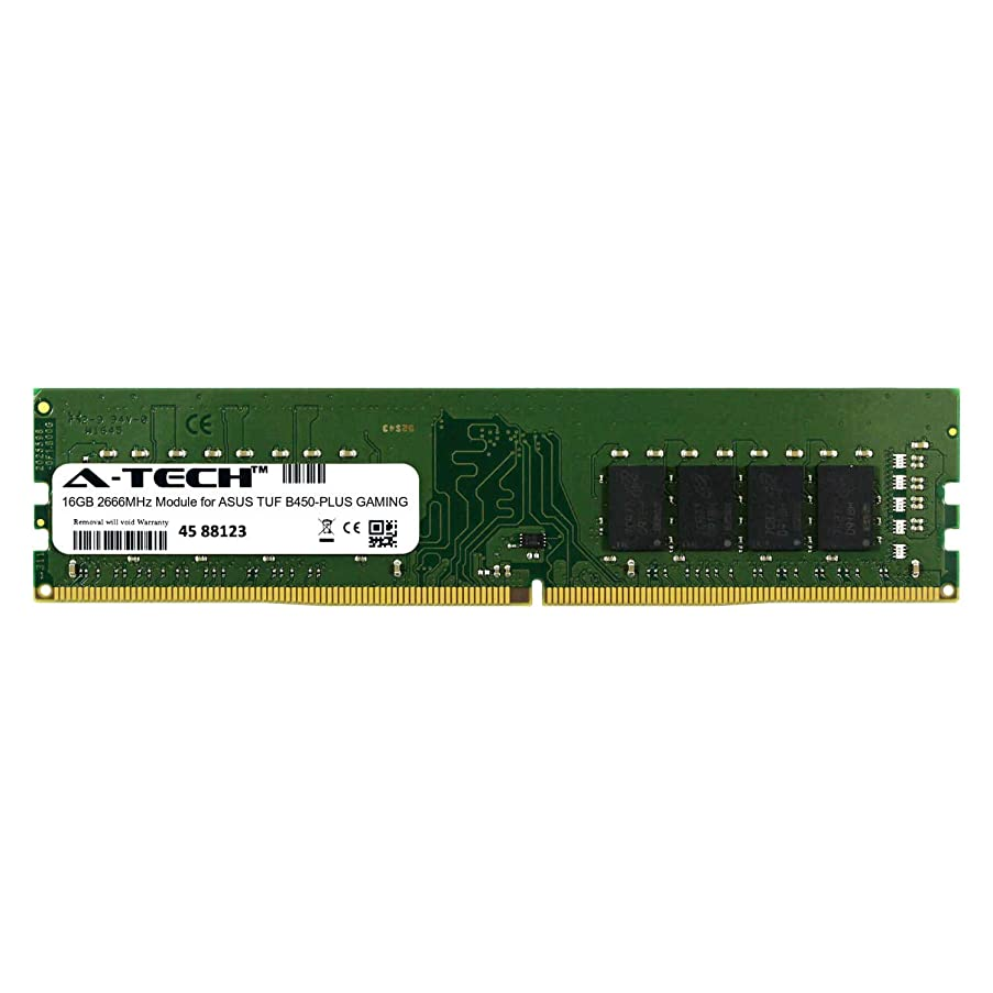 A-Tech 16GB Module for ASUS TUF B450-PLUS Gaming Desktop & Workstation Motherboard Compatible DDR4 2666Mhz Memory Ram (ATMS394572A25823X1)