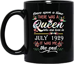 Queen who was born in June 1929 Mug Wonderful 90th Birthday Gift 90 Years Old mug for Women Lady Girls, 11oz Black Tea Cup