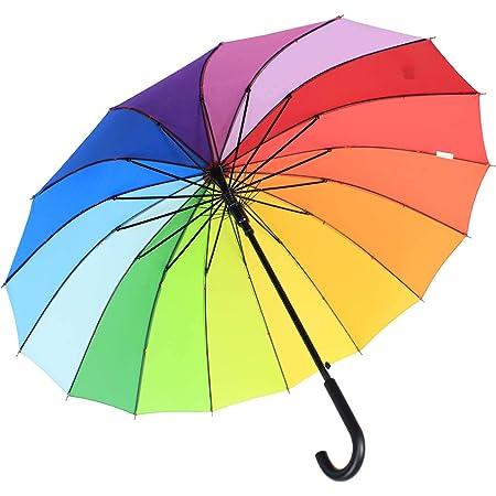 iX-brella Parapluie l/éger XXL Pour couple 16 pans Avec poign/ée souple et confortable Diam/ètre 1,29 m Bleu bleu 129