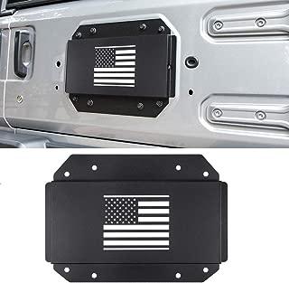 Royalo Black Spare Tire Carrier Delete Filler Plate Tramp Stamp for Jeep Wrangler JL 2018 2019 Removed Tire Carrier Bumper Tramp Stamp (American Flag)