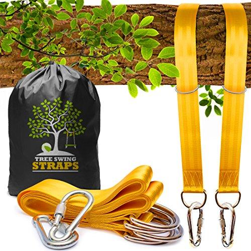 Safe Tree Swing Hanging Kit (Set of 2) - 10ft Long Straps...