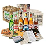 Coffret cadeau de 6 bières du monde entier 'Bières du monde entier' + brochure d'information l un coffret cadeau spécial pour la Fête des Pères l idée cadeau compagnon (6x0,33l)