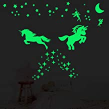 2 Sheet Glow in The Dark Stars for Ceiling,Ultra Brighter Unicorn Wall Decor,Kids Bedroom Decoration,Wall Stickers for Bed...