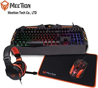 Meetion | 4in1 Gaming Kit | Anti-Ghosting Keyboard, Mouse, Headphone, Mousepad Combo
