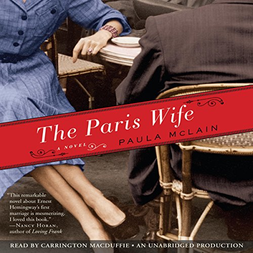 The Paris Wife     A Novel              Written by:                                                                                                                                 Paula McLain                               Narrated by:                                                                                                                                 Carrington MacDuffie                      Length: 11 hrs and 26 mins     11 ratings     Overall 4.5