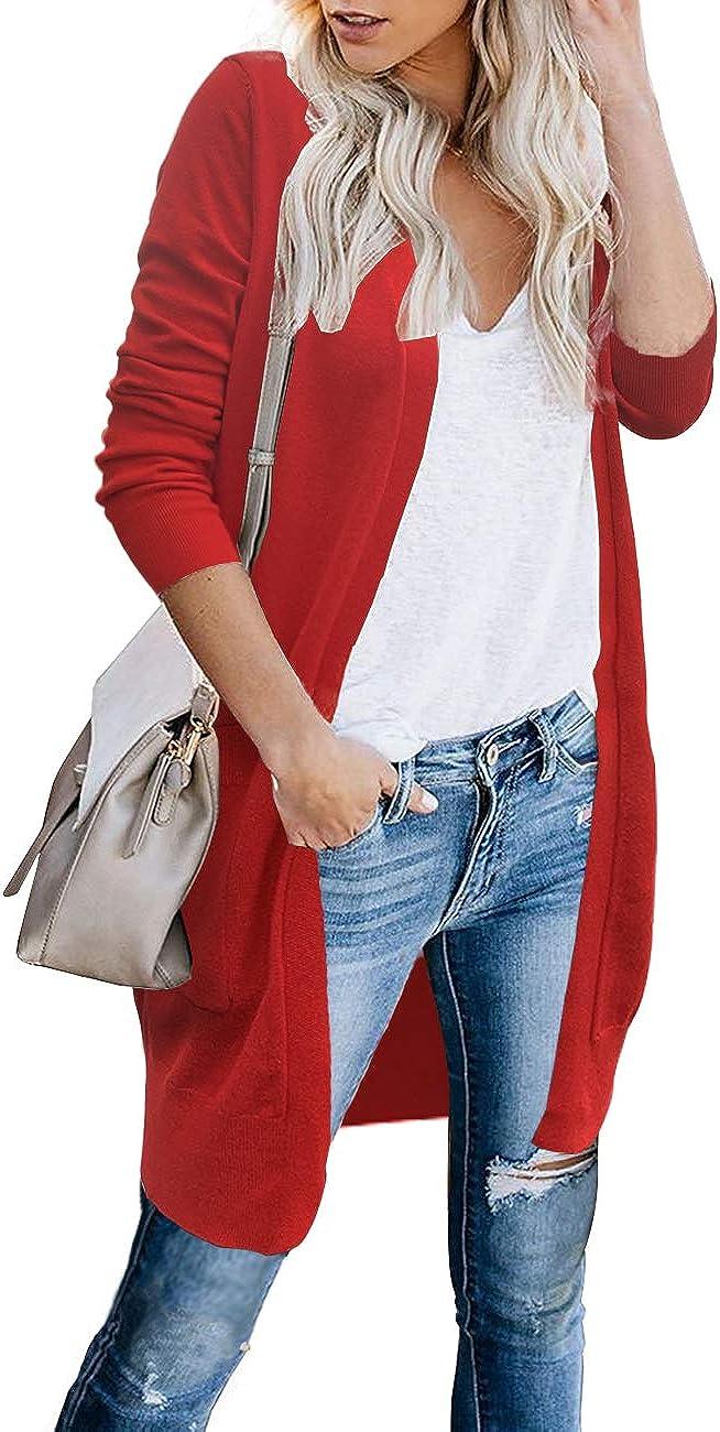 CPOKRTWSO Women Lightweight Open Long Shrug Raleigh Mall Cardigans Sweat Knit In stock