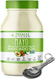 [Free Measuring Spoon] [32 Ounce Family Jar] Primal Kitchen - Avocado Oil Mayo, Gluten and Dairy Free, Whole30 and Paleo A...