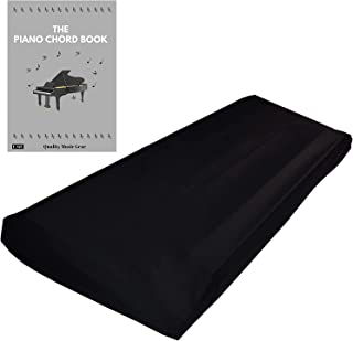 QMG Stretchable Keyboard Dust Cover for 61 & 76 Key-keyboard: Best for all Digital Pianos & Consoles – Adjustable Elastic ...
