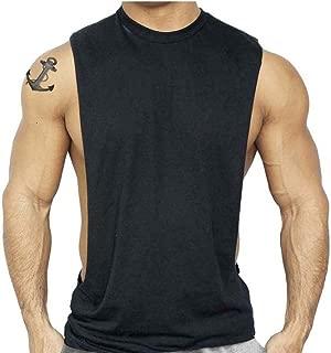 Interstate Apparel Inc New Muscle Cut Workout T-Shirt Bodybuilding Tank Top Black XS-3XL