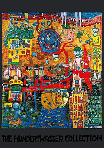 Kunstdruck/Poster: Friedensreich Hundertwasser Das 30 Tage Fax Bild - hochwertiger Druck, Bild, Kunstposter, 59x84 cm