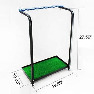 Kofull New Golf Club Display Stand Rack Durable Metal Storage 9 Clubs Golf Clubs Shelf Organizer Equipment