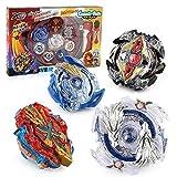 OBEST Peonzas con Lanzador Conjunto, 4 Burst Turbo Gyro y 2 Launcher y Disco de Batalla Set, Juego de empuñadura de Metal con Arena Fusion 4D, Regalos de Juguetes para Niños