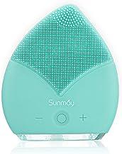 【Sunmay Leaf】SUNMAY Limpiador Facial Impermeable Eléctrico Masajeador con Silicona FDA Recargable Vibraciones Sónicas Disp...
