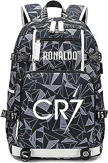 サッカー選手スタークリスティアーノロナウド発光多機能バックパックCR7旅行学生サッカーファン本袋用男性女性