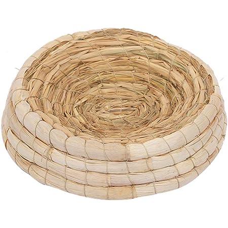 POPETPOP Handwoven Pigeon Nesting Bowls, Bird Nests Straw Incubation Bed, Courtship Breeding House for Pigeon/Dwarf Rabbit/Gerbil/Chinchillas/Parakeet/Guinea Pigs, 24x6.5cm
