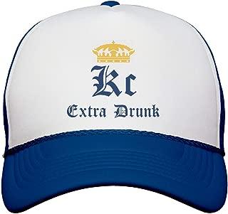 Funny Kc Extra Drunk: Snapback Trucker Hat White/Royal
