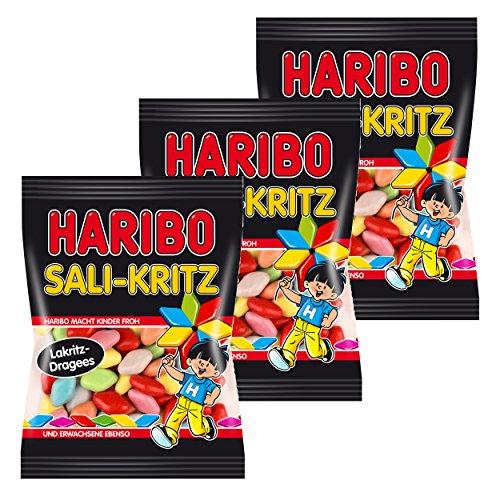 Haribo Sali-Kritz, 3er Pack, Lakritz, Süßigkeit, Nascherei, Im Beutel, Tüte, 200 g