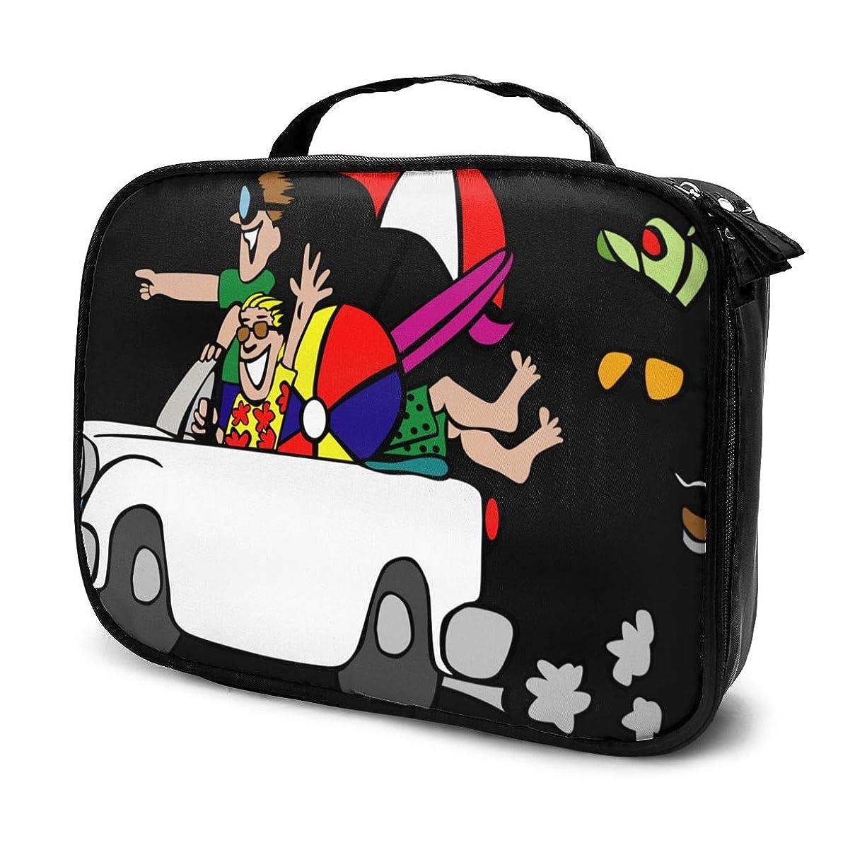 他の日証明大西洋化粧品収納バッグ 面白い旅行 漫画車 収納ポーチ 収納袋 化粧ポーチ 旅行の収納 化粧品バッグ ウォッシュバッグ 多機能 旅行用品 おしゃれな 男女兼用