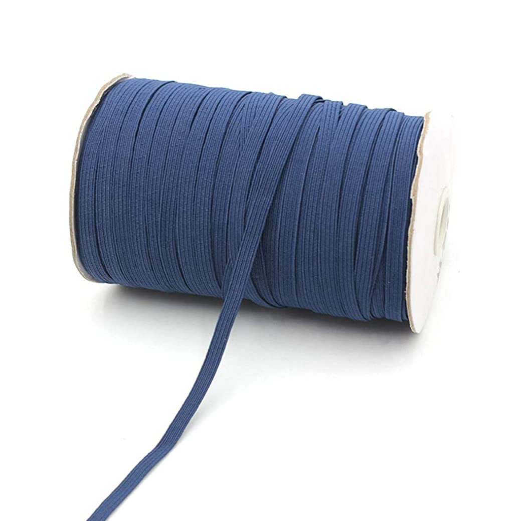 消去証明書オーバーラン6ミリメートル弾性バンド、ヘビーストレッチニットカラフルなフラット弾性コードスプールでDIYの縫製工芸、10Mロング (Color : E)