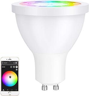 GLEDOPTO GU10 Wifi Bombilla Inteligente 2700K-6500K Bombilla LED Regulable RGB Multicolor, Compatible con Philips Hue/IKEA...