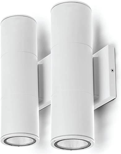 high quality Home sale Zone Security LED Modern Wall & Porch Sconce Light discount (2-Set, White) outlet online sale