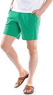ショートパンツ メンズ 膝上 短め 無地 グレー 黒 白 紺 赤 黄色 ピンク 緑 青 紫 バーガンディ 春 夏 ハーフパンツ イージー スウェット カラーパンツ 短パン お洒落 カジュアル
