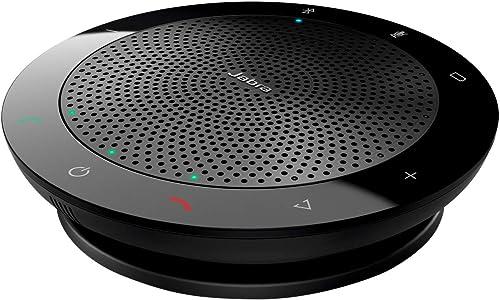 Jabra Speak 510 Speaker – Enceinte Portable Bluetooth, Haut-Parleur pour Conférence – Connexion avec ordinateurs port...