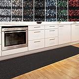 Küchenläufer Granada in großer Auswahl | strapazierfähiger Teppich Läufer für Küche Flur uvm. | rutschfester Teppichläufer / Flurläufer für alle Böden ( 80x100 cm Braun )