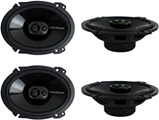 "2 Pairs of Rockford Fosgate Punch P1683 260W Peak (130W RMS) 6"" x 8"" Punch Series 3-Way Full Range Coaxial Speakers"