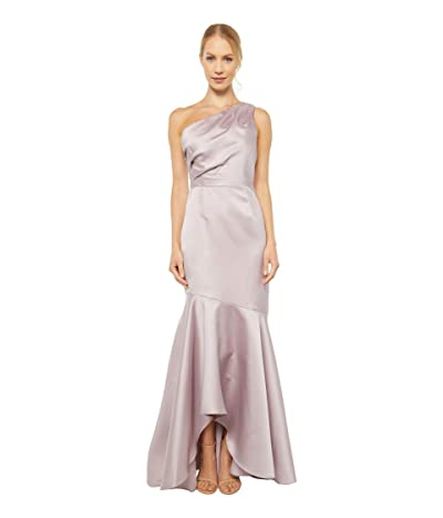 Adrianna Papell Mikado Long Gown (Marble) Women