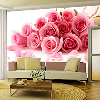 xbwy Custom Wallpaper 3D Pink Rose Flowers Photo Wall Mural Living Room Wedding House Bedroom Romantic Warm Backdrop Wall Papers Roll-200X140Cm