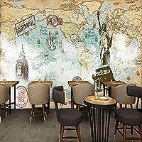 YCRY-壁紙古代世界地図の女神バーKtv -壁の装飾-ポスター画像写真-HD印刷-現代の装飾-壁画-350x250cm