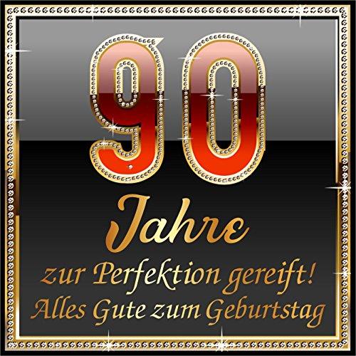 RAHMENLOS 3 St. Aufkleber Original Design: Selbstklebendes Flaschen-Etikett zum 90. Geburtstag: 90 Jahre zur Perfektion gereift!