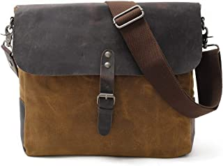 Mens Bag School and Work Men's Messenger Shoulder Bag Vintage Canvas Briefcase Crossbody Day Bag High capacity