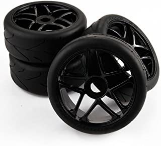 Yiguo 4pcs 1/8 RC Baja Buggy On Road Tires Tyre and Wheels Rims for Redcat HPI Racing Traxxas Car