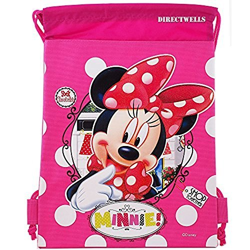 Disney Minnie Mouse Authentic Licensed Drawstring Bag Backpack (Pink)