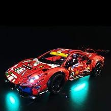 Yovso Verlichtingsset voor Lego 42125 Technic Ferrari 488 GTE bouwset, led-verlichtingsset compatibel met Lego 42125 super...