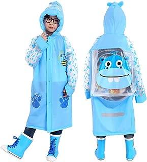 Ksone Cartoon Cute Frog Raincoat for Children Boy Girls Rainwear Waterproof Rainsuit Kids Outdoor Long Ponchos Hoodies